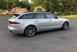 """Stylish"" and ""wagon"" aren't usually used together, but WTOP Car Reviewer Mike Parris says the Jaguar Sportbrake S AWD will help change your mind. (WTOP/Mike Parris)"
