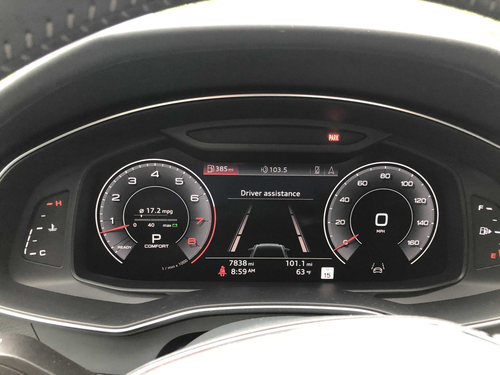 Audi A6 gauges