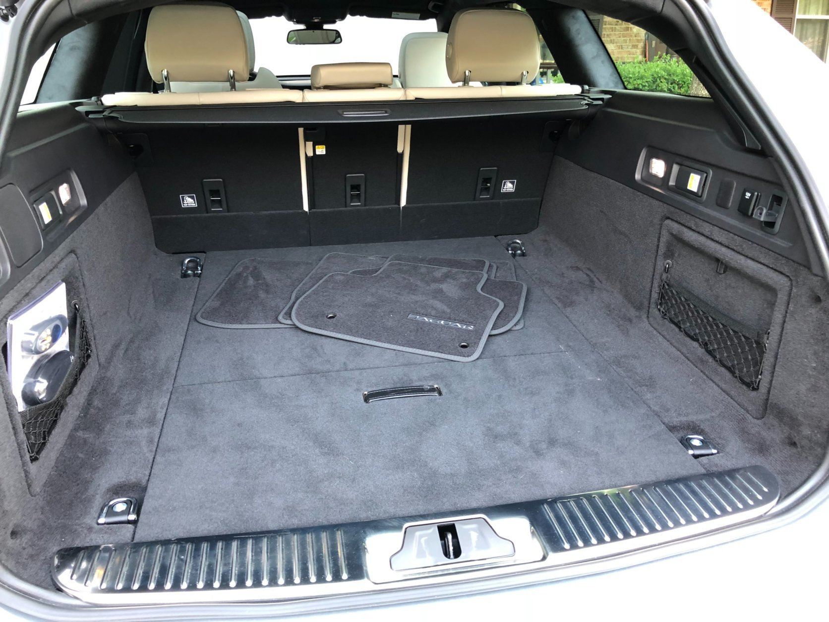 Cargo space for the Jaguar XF Sportbrake is  is comparable to many similar size crossovers. (WTOP/Mike Parris)