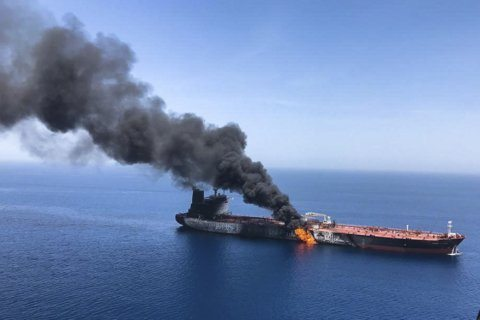 Trump blames Iran for tanker attacks but calls for talks