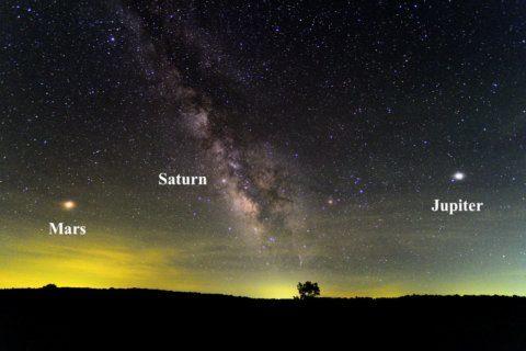 Look up: Jupiter rules the summer night