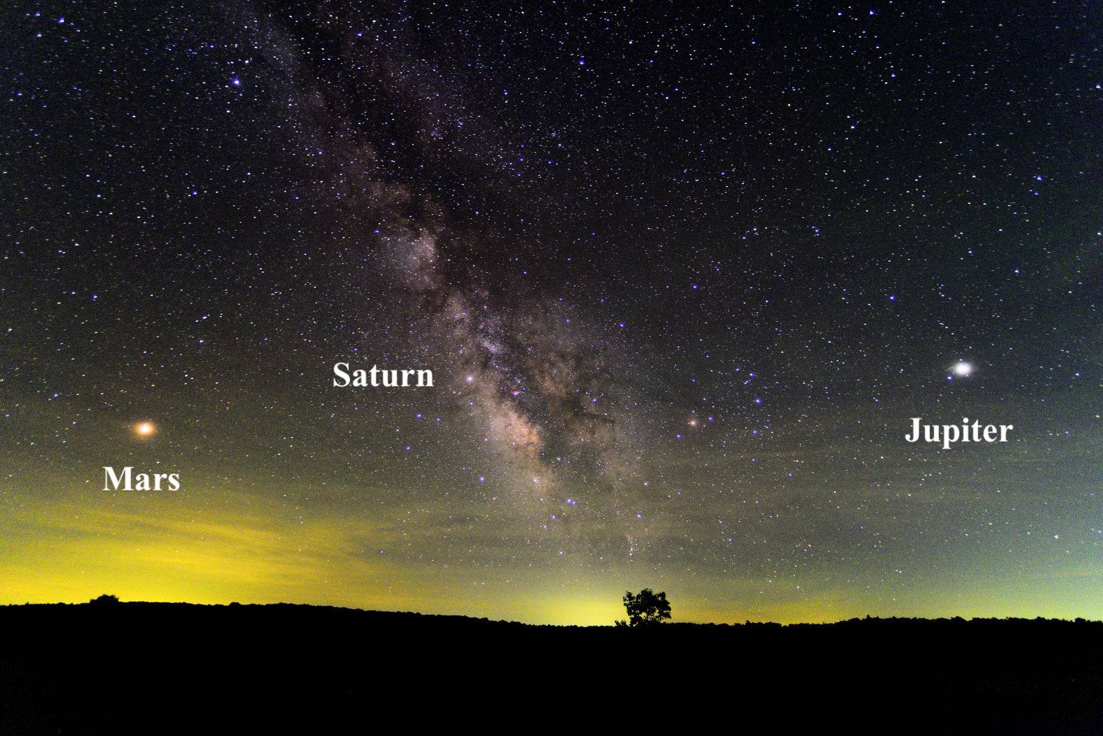 You can see Jupiter and Mars snuggle up in the predawn sky
