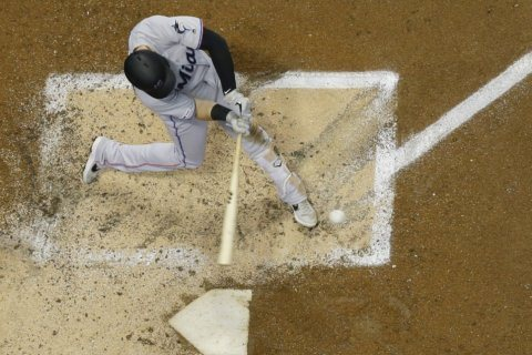 Anderson hits grand slam as Marlins beat Nelson, Brewers 8-1