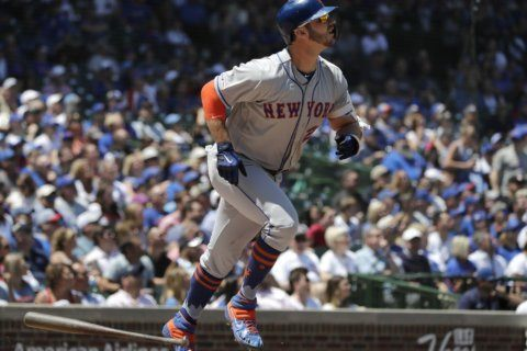 Alonso hits record 26th HR, Mets rout Cubs 10-2