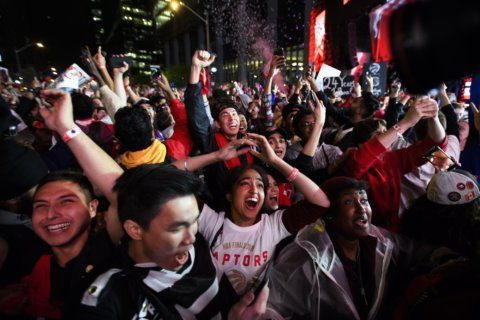 Canada celebrates after Raptors win first NBA championship
