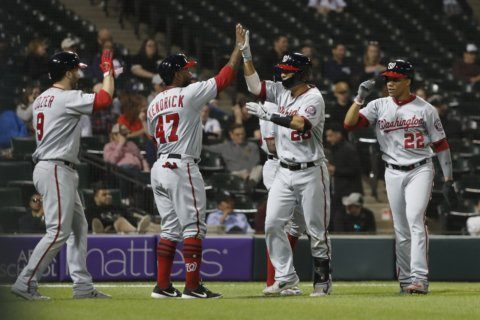 Turner homers again as Nationals beat White Sox 12-1