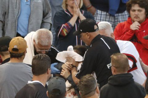 Fan struck by foul ball Monday night released from hospital
