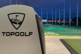 The new Topgolf National Harbor is set to open later in June, but the company has no immediate plans to close their Alexandria location. (WTOP/Noah Frank)