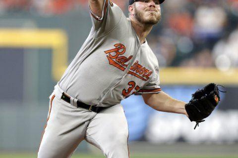 Alvarez hits 2-run HR in MLB debut as Astros blank O's 4-0