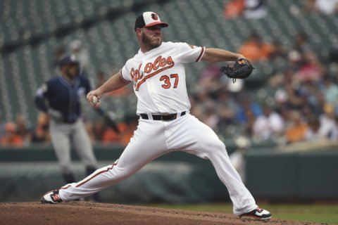 Orioles take 3-game skid into matchup with Indians