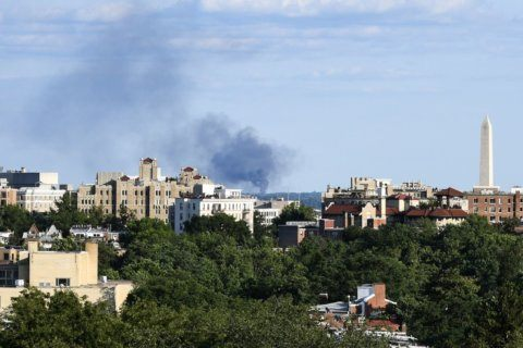 3 firefighters injured, over 60 residents displaced after apartment blaze near National Harbor, Md.