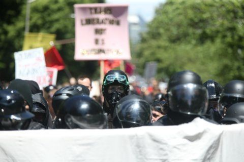 Marches by rival groups in Portland lead to clashes; 3 people arrested