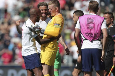 Pickford penalty star as England ends 3rd in Nations League