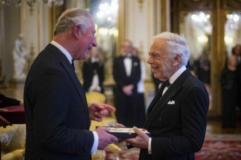 Ralph Lauren receives honorary knighthood in London