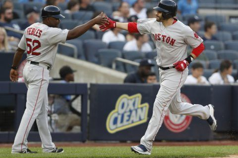 Red Sox slugger Martinez still sidelined with back tightness