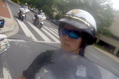 'I feel like I got to break that glass ceiling': Meet the first female Secret Service motorcycle officer