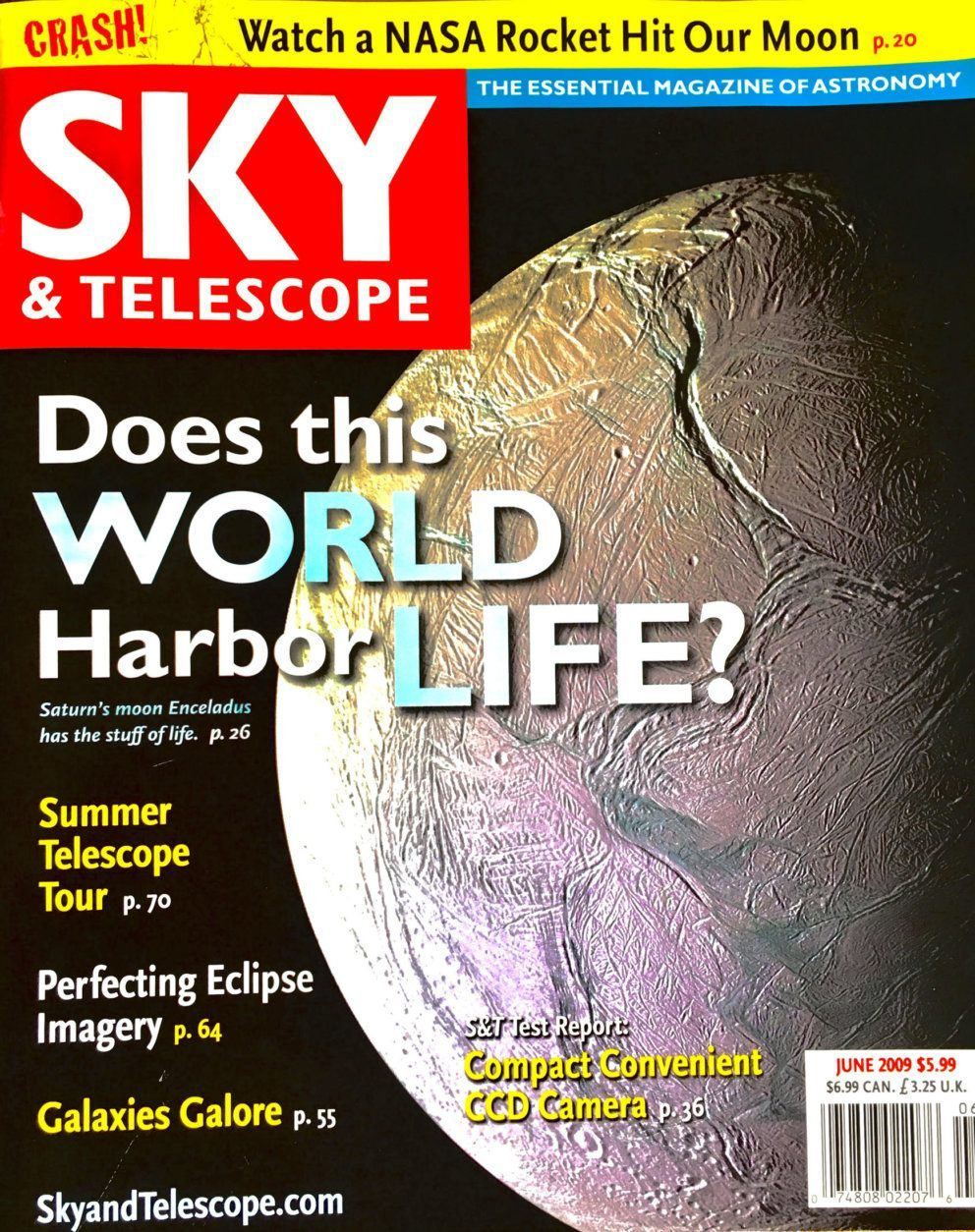 Greg Redfern was doing a story on the spacecraft and their mission to the Moon for Sky and Telescope magazine's June 2009 issue.(Courtesy Greg Redfern)