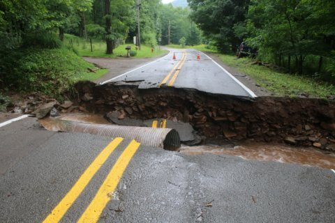 Flash flooding in parts of West Virginia from severe storms