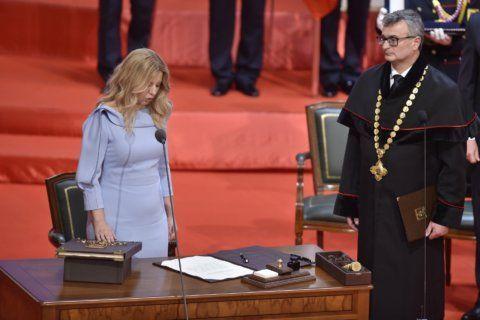 Zuzana Caputova inaugurated as 1st Slovak female president