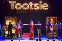 """The cast of """"Tootsie"""" performs at the 73rd annual Tony Awards at Radio City Music Hall on Sunday, June 9, 2019, in New York. (Photo by Charles Sykes/Invision/AP)"""
