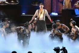 """The cast of """"Hadestown"""" performs at the 73rd annual Tony Awards at Radio City Music Hall on Sunday, June 9, 2019, in New York. (Photo by Charles Sykes/Invision/AP)"""