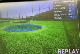 Topgolf National Harbor will feature Toptracer technology, which tracks shots the same way as during televised broadcasts of the PGA Tour. (WTOP/Noah Frank)
