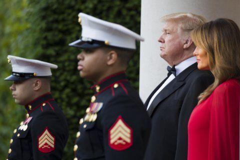 Trump honors D-Day vets, discusses Vietnam deferment
