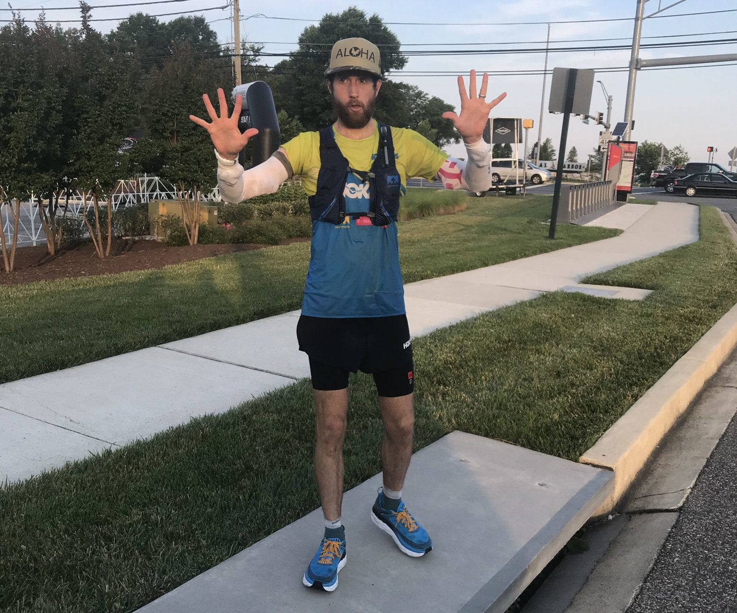 "Michael Wardian has sat in traffic on the Capital Beltway and thought ""Wow; I wish I could just park my car here and take off and run home."" This weekend, he ran the entire loop of the iconic highway. (Courtesy Michael Wardian)"