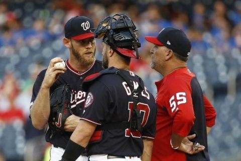 Strasburg earns 100th win as Nationals rally past White Sox