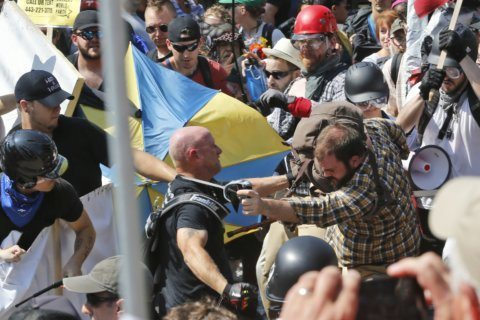 Men face sentencing on riot charge in Virginia rally case