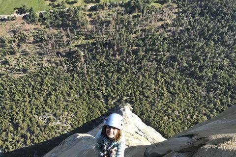 The Latest: Girl emotional, overwhelmed after Yosemite climb
