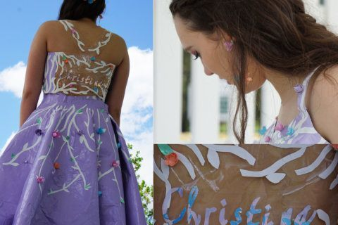 With duct tape dress design, Va. teen could win a national competition