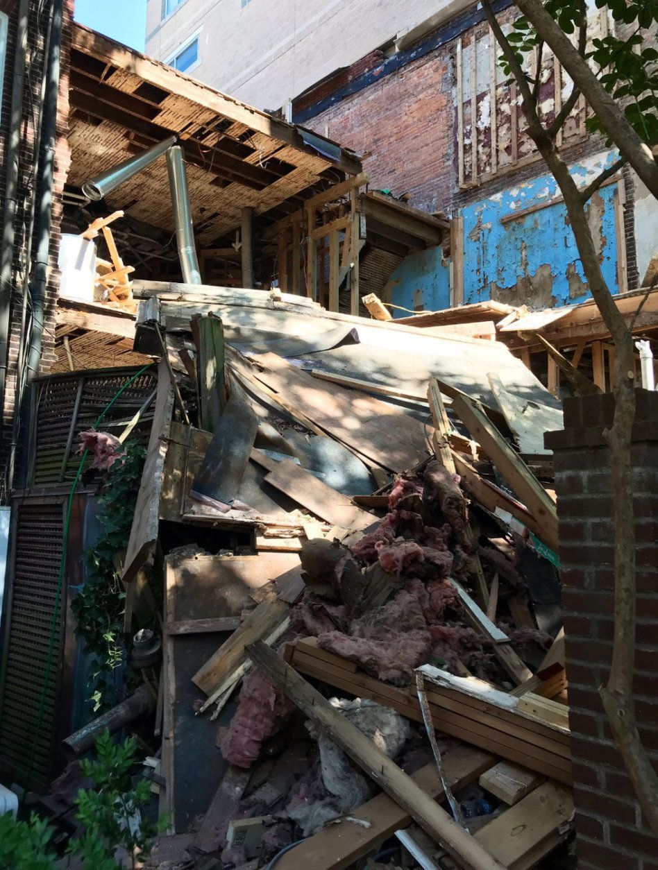 It happened in the 1300 block of 13th Street Northwest just before 2 p.m. (Courtesy DC Fire and EMS)