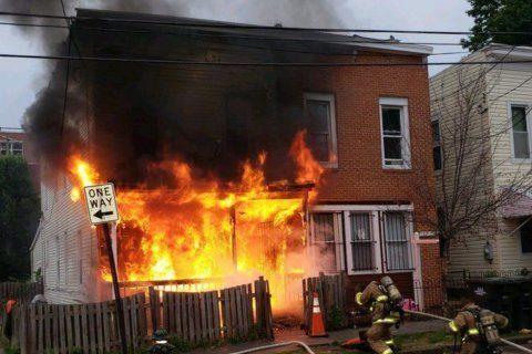 House fire in Southeast DC displaces close to a dozen people