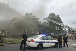 """First responders are still working to determine the exact number of residents displaced, though a fire official deemed the building a """"total loss."""" (Courtesy Frederick County police)"""