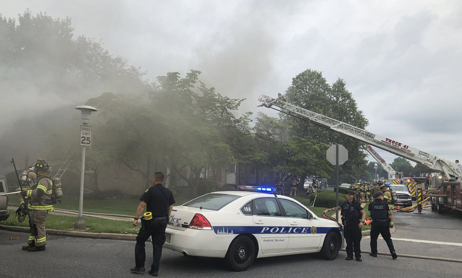 Total loss': Flames engulf 7-unit townhome in Frederick, Maryland | WTOP