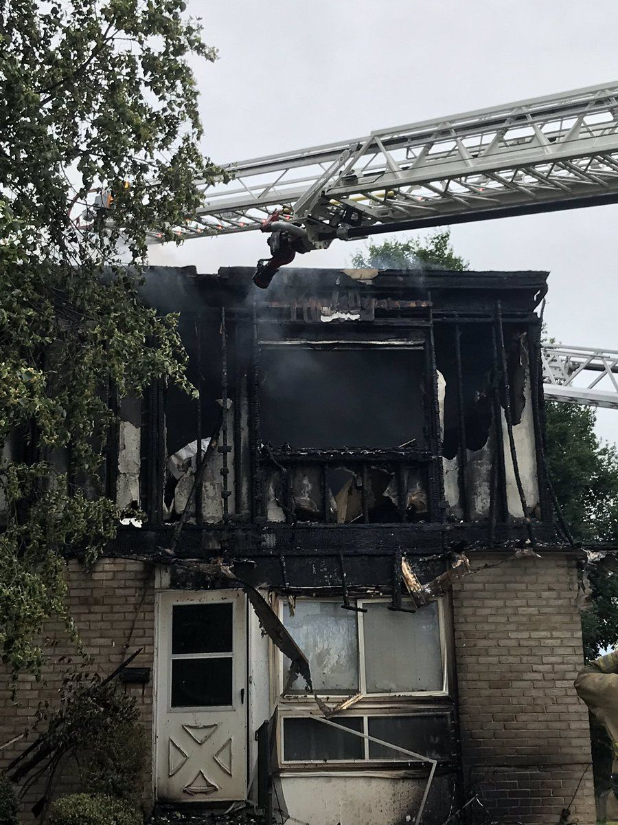 """First responders are still working to determine the exact number of residents displaced, though a fire official deemed the building a """"total loss."""" (Courtesy Frederick County Fire and Rescue Services)"""