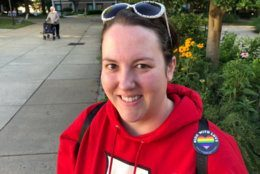 """Tiffany Diehl came out to vote Tuesday. She said """"green space for Reston"""" is an important issue. (WTOP/Kristi King)"""