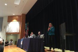 Virginia Congresswoman Jennifer Wexton, D-Va., hosted a town hall gun safety and gun rights Chantilly on Saturday. (WTOP/Liz Anderson)