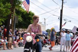 The Litas of Washington DC were represented in the Takoma Park parade. The group promotes motorcycle riding for women. (WTOP/Kate Ryan)