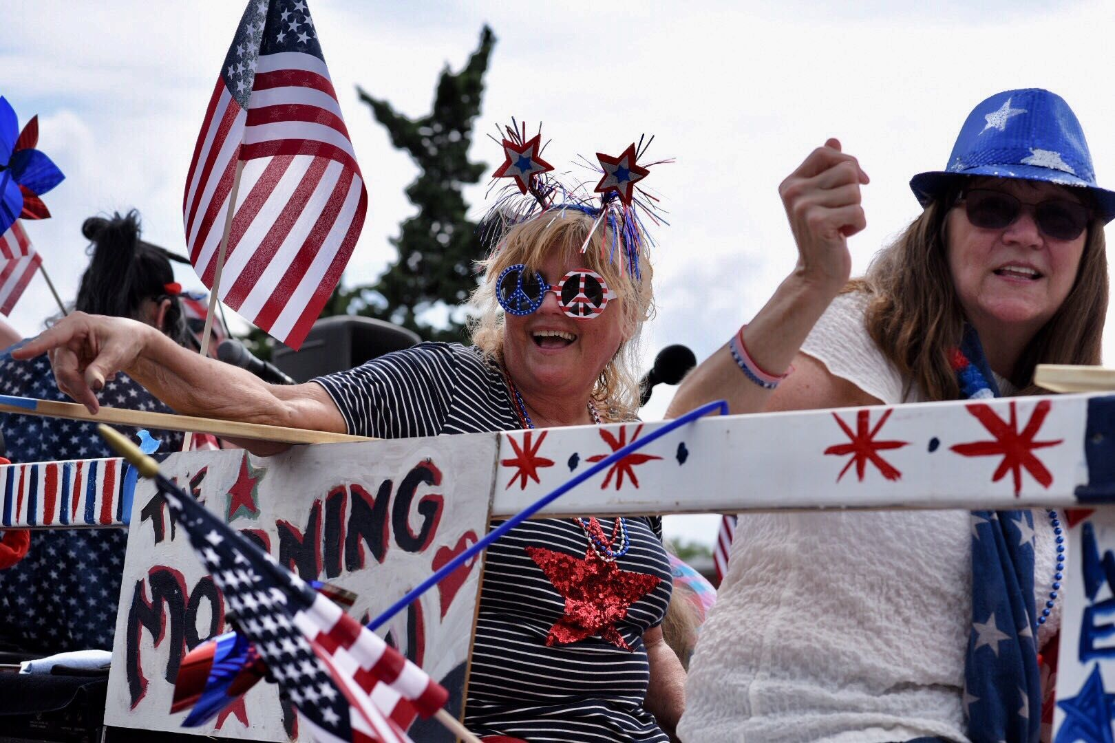 One of the floats is the Takoma Park Fourth of July Parade. (WTOP/Kate Ryan)