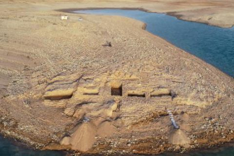 A 3,400-year-old palace was discovered in the Kurdistan region of Iraq after the Mosul Dam reservoir water levels dropped due to drought.