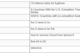 "An excerpt of the search history from Daron Wint's phone. On May 18 -- four days after the fire on Woodland Drive -- Daron Wint was in New York visiting his fiancee. He searched ""10 hideout cities for fugitives,"" ""5 Countries with U.S. Extradition Treaty,"" information about how to remove iCloud from an iPhone 6 and ""first 48 in DC."""
