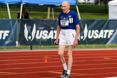 96-year-old Springfield man breaks 5K world record for his age group