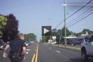 Cop runs to rescue driver having a seizure