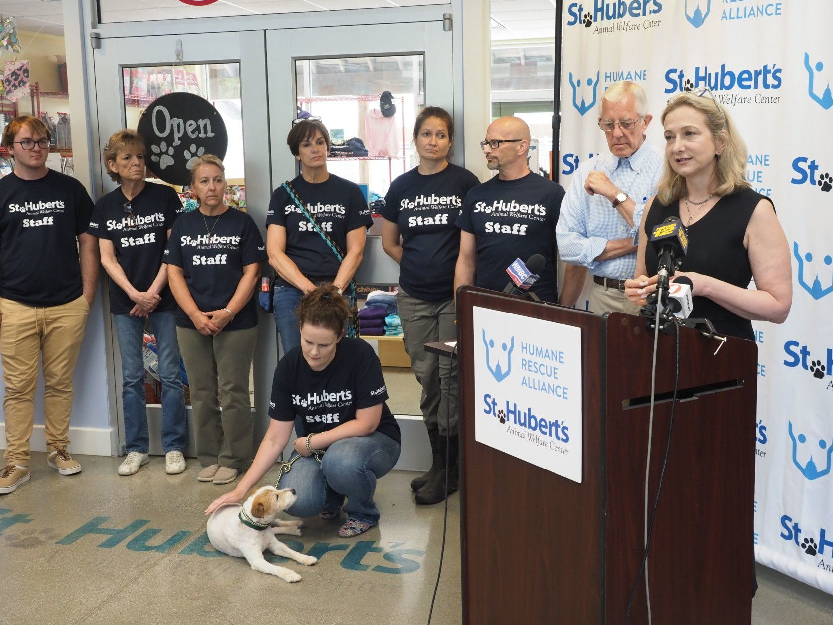St. Hubert's Animal Welfare staff, president and CEO