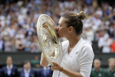 Halep routs Williams to win Women's Singles Championship at Wimbledon