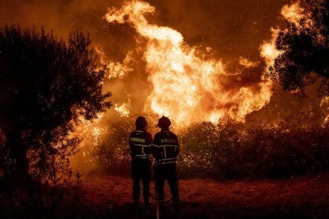 Firefighters battle wildfire in Portugal, 32 people hurt