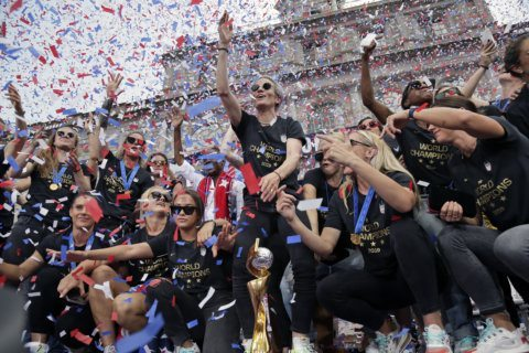 PHOTOS: World Cup champs celebrate back in the US