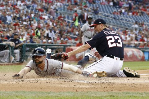 Nats' rally falls short, Braves win 11-8